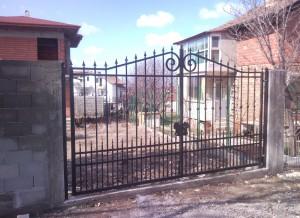 Врата двукриална ковано желязо