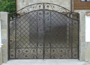 Врата двукриална ковано желязо 2