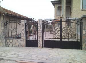 Врата еднокрилна ковано желязо